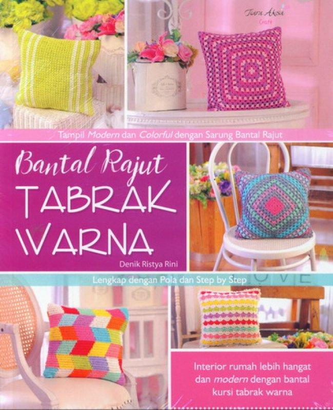 Cover Buku Bantal Rajut Tabrak Warna