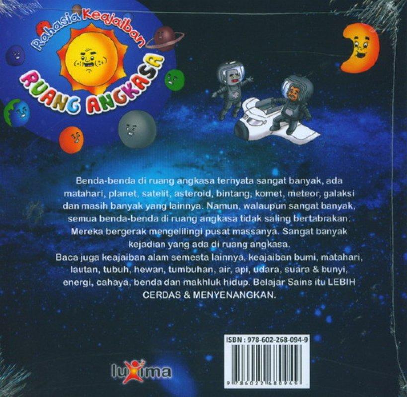 Cover Belakang Buku Rahasia Keajaiban #3: Ruang Angkasa (Bilingual)