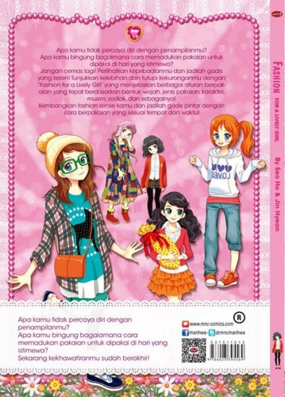 Cover Belakang Buku Fashion For A Lively Girl