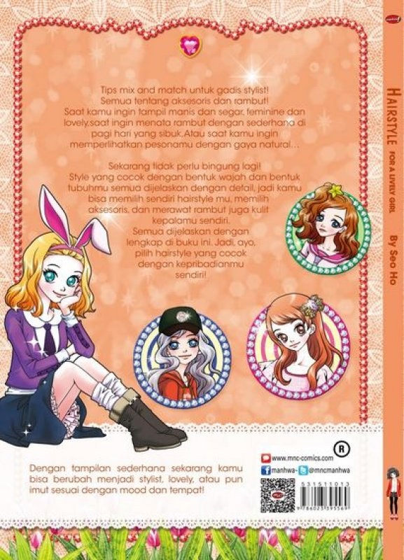 Cover Belakang Buku Hairstyle For A Lively Girl