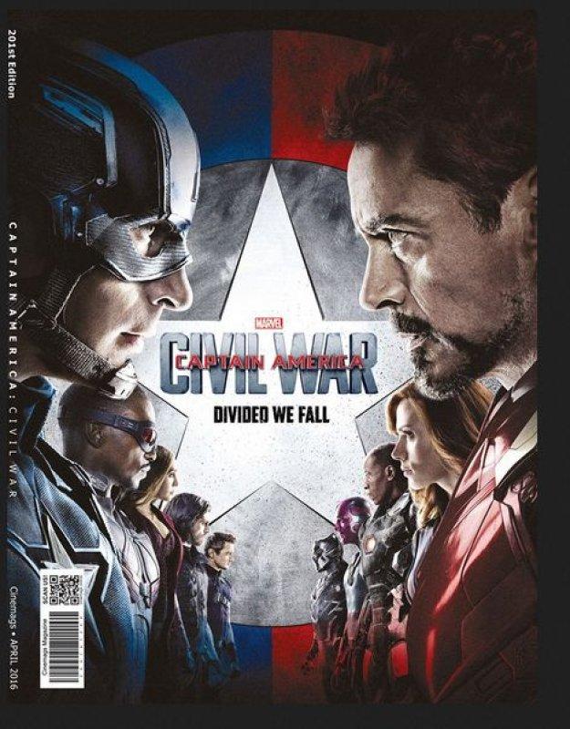 Cover Buku Majalah Cinemags Cover Captain America: Civil War   Edisi 201 - April 2016