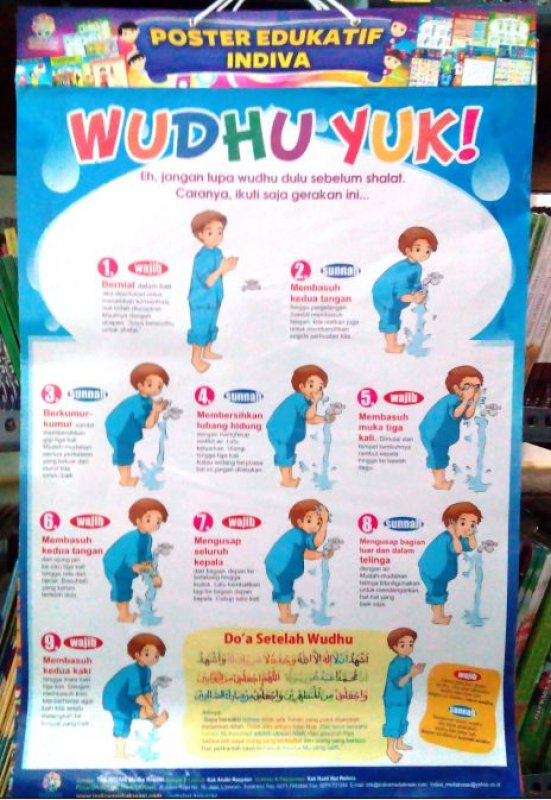 Cover Buku Poster Wudhu Yuk! [Poster Edukatif Indiva]