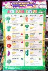 Poster Aku Suka Sayur [Poster Edukatif Indiva]
