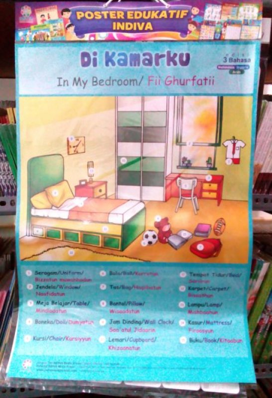 Cover Poster Di Kamarku - In My Bedroom [Poster Edukatif Indiva]