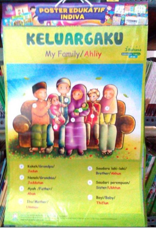 Cover Buku Poster Keluargaku [Poster Edukatif Indiva]
