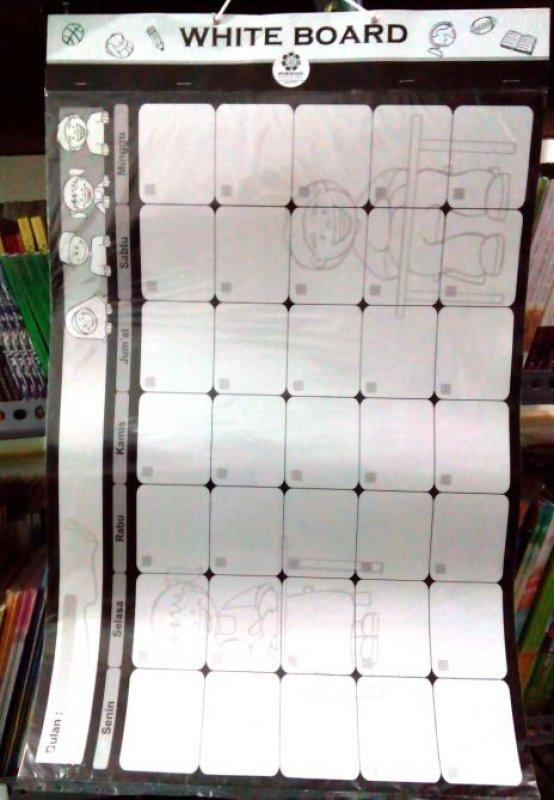 Cover Buku Poster White Board [Poster Edukatif Indiva]