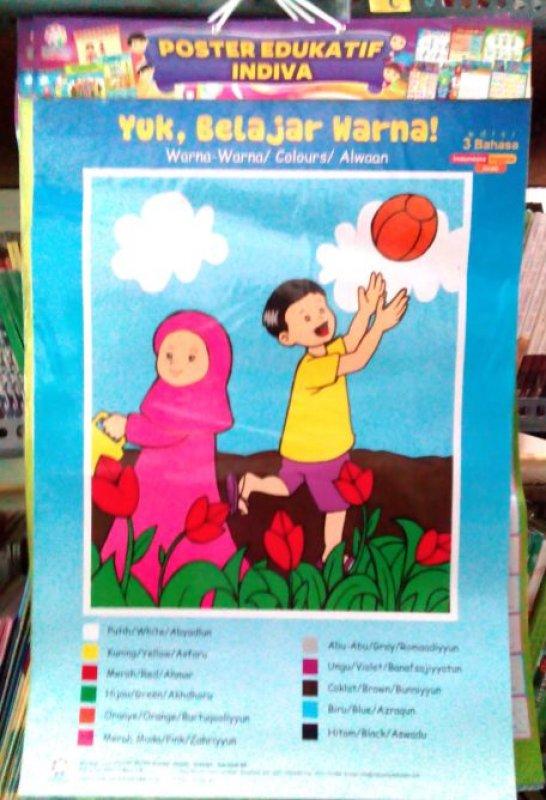 Cover Buku Poster Yuk Belajar Warna [Poster Edukatif Indiva]