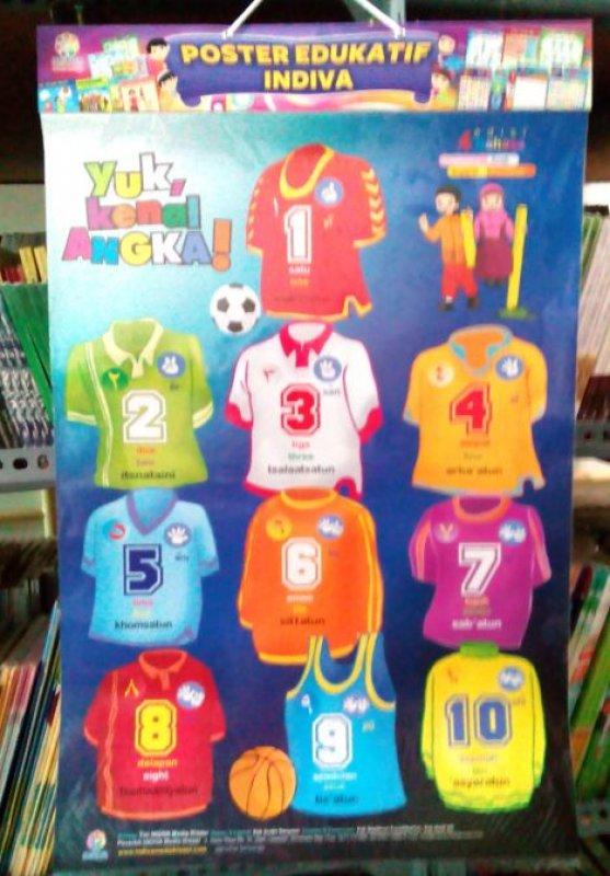 Cover Buku Poster Yuk Kenal Angka [Poster Edukatif Indiva]