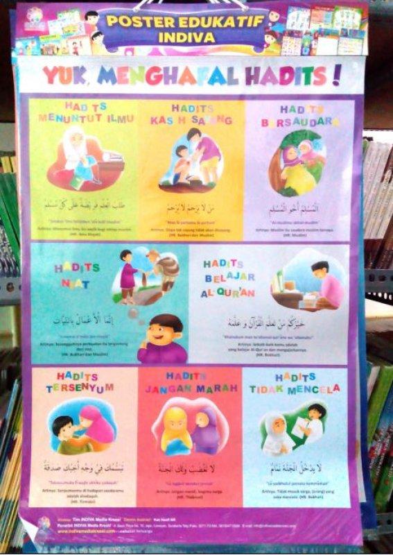 Cover Buku Poster Yuk Menghafal Hadits [Poster Edukatif Indiva]
