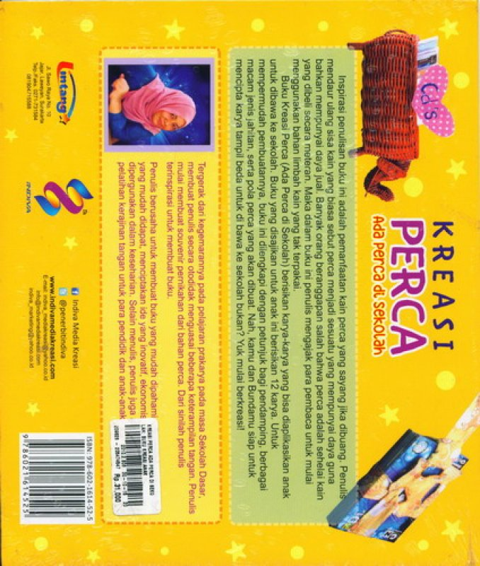 Cover Belakang Buku Kreasi Perca (Buku Kreasi Anak)