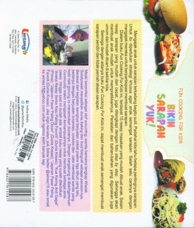 Cover Belakang Buku Fun Cooking For Kids: Bikin Sarapan Yuk (Buku Kreasi Anak)