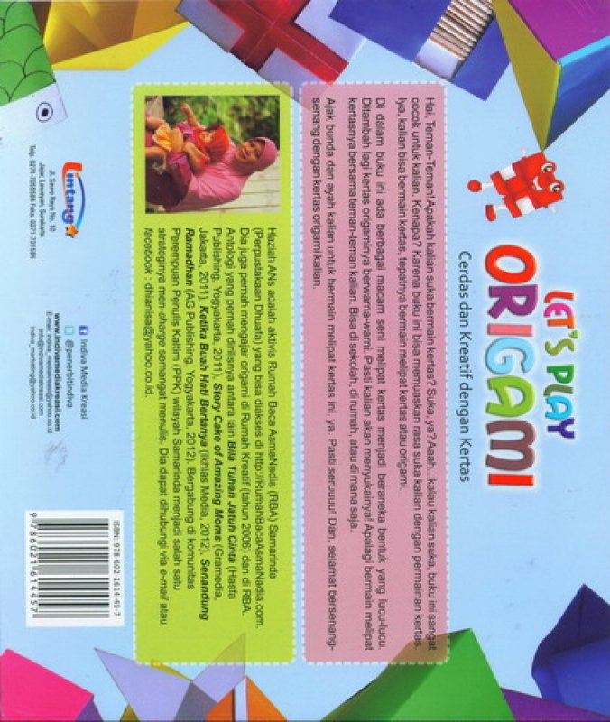 Cover Belakang Buku Lets Play Origami (Buku Kreasi Anak)