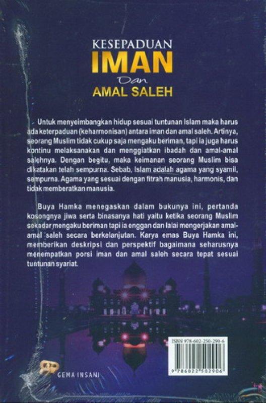 Cover Belakang Buku Kesepaduan Iman dan Amal Saleh