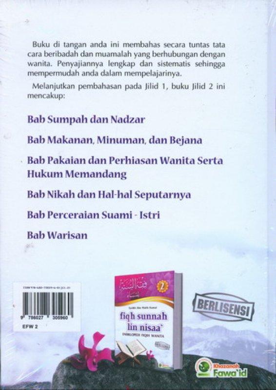 Cover Belakang Buku Fiqh Sunnah Lin Nisaa Jilid 2 (Ensiklopedi Fiqih Wanita)