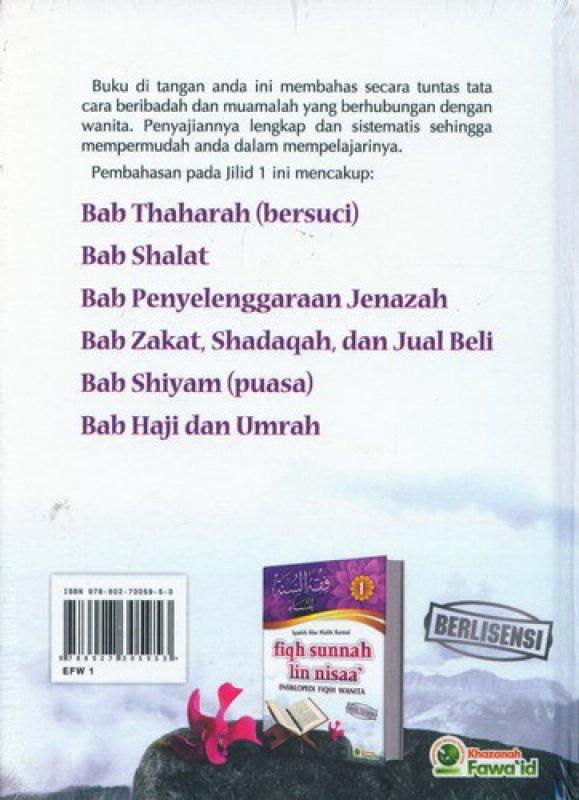 Cover Belakang Buku Fiqh Sunnah Lin Nisaa Jilid 1 (Ensiklopedi Fiqih Wanita)