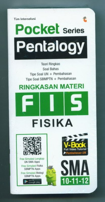 Cover Buku Pocket Series Pentalogy Fisika SMA 10-11-12