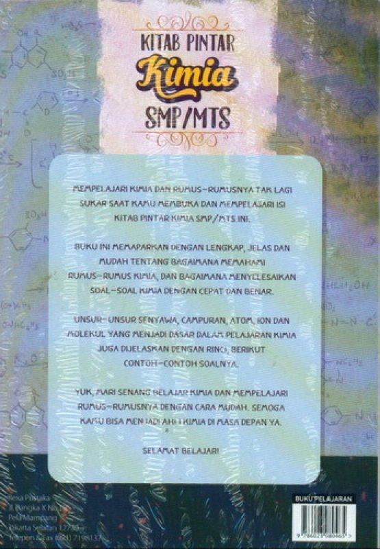 Cover Belakang Buku Kitab Pintar Kimia SMP/MTS