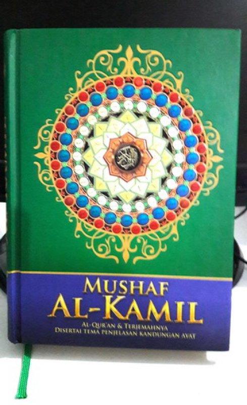 Cover Buku Mushaf Al-Kamil Al-Quran dan Terjemahnya Disertai Tema Penjelasan Kandungan Ayat (Disc 50%)