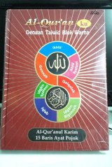 AL-Quranul Karim 15 Baris Ayat Pojok - Al-Quran ku Dengan Tajwid Blok Warna
