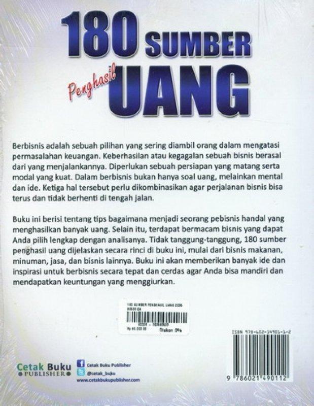 Cover Belakang Buku 180 Sumber Penghasil Uang