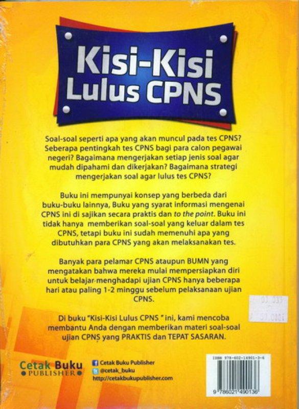 Cover Belakang Buku Kisi-Kisi Lulus CPNS [Bonus CD CAT]