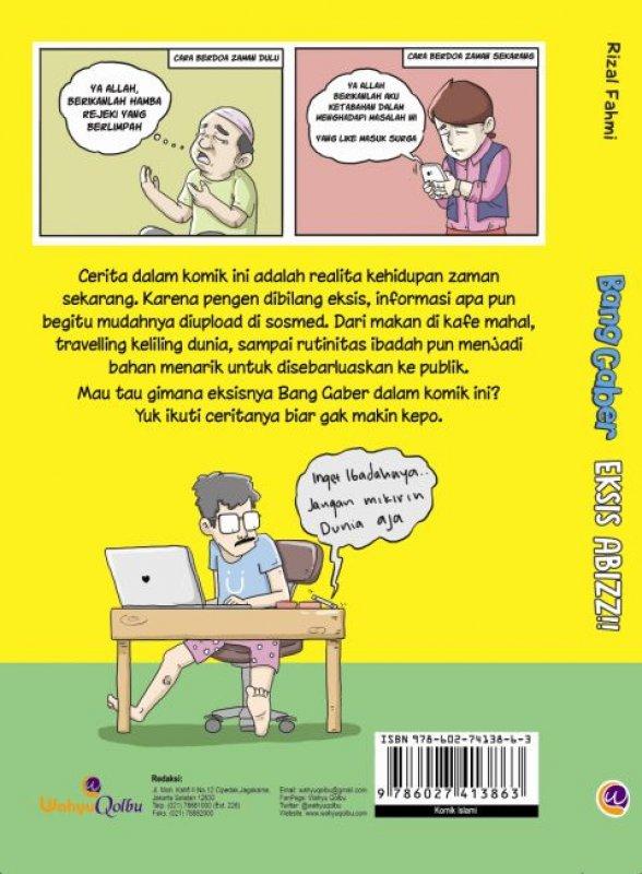 Cover Belakang Buku Bang Gaber Eksis Abizz (Disc 50%)