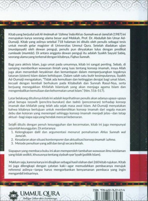 Cover Belakang Buku Konsep Kepemimpinan Dalam Islam