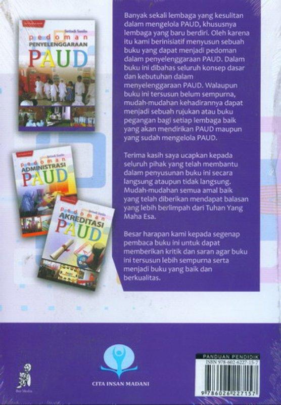Cover Belakang Buku Pedoman Penyelenggaraan PAUD
