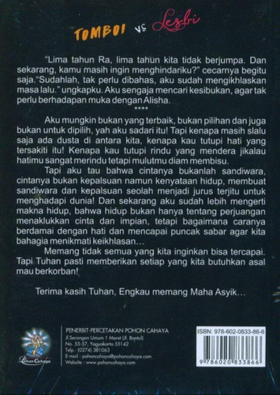 Cover Belakang Buku Tomboi VS Lesbi