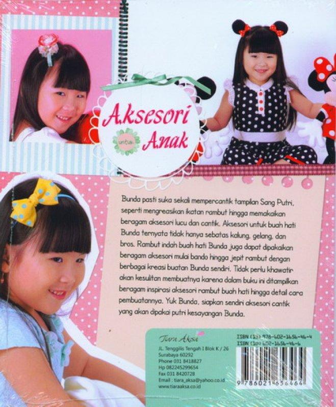 Cover Belakang Buku Aksesori Untuk Anak