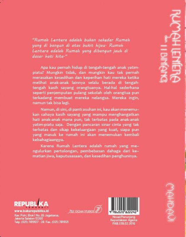 Cover Belakang Buku Rumah Lentera dan Sebelas Bintang [Bonus: CD]
