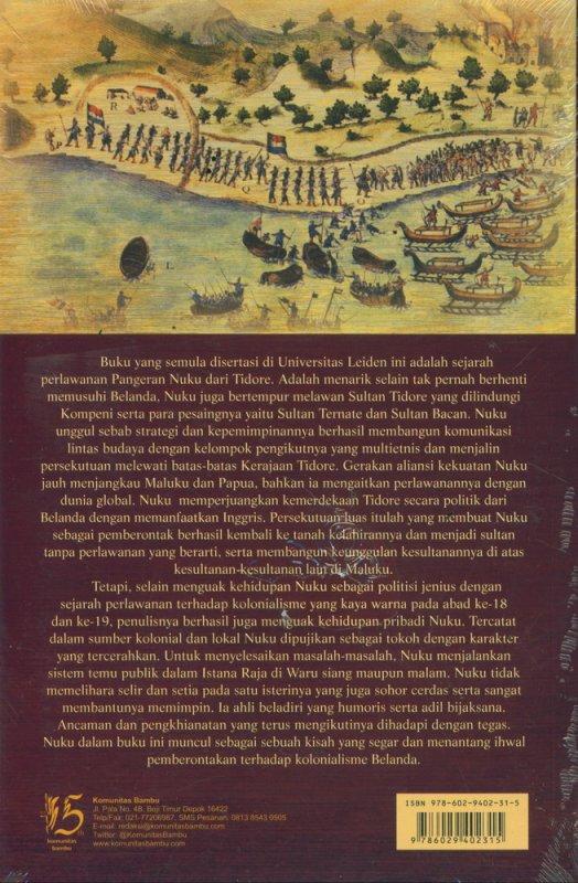Cover Belakang Buku Pemberontakan Nuku: Persekutuan Lintas Budaya Di Maluku-Papua Sekitar 1780-1810