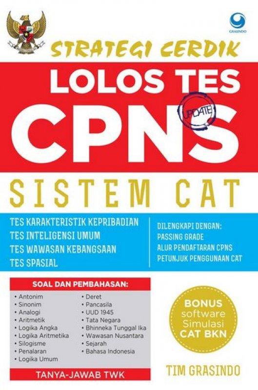 Cover Buku Strategi Cerdik Lolos Tes CPNS Sistem CAT + CD