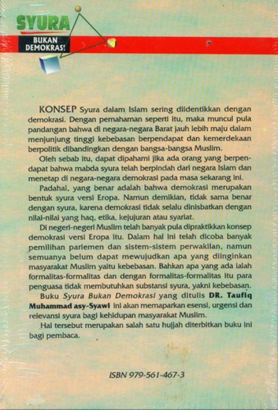 Cover Belakang Buku SYURA Bukan Demokrasi