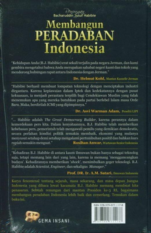 Cover Belakang Buku Membangun Peradaban Indonesia