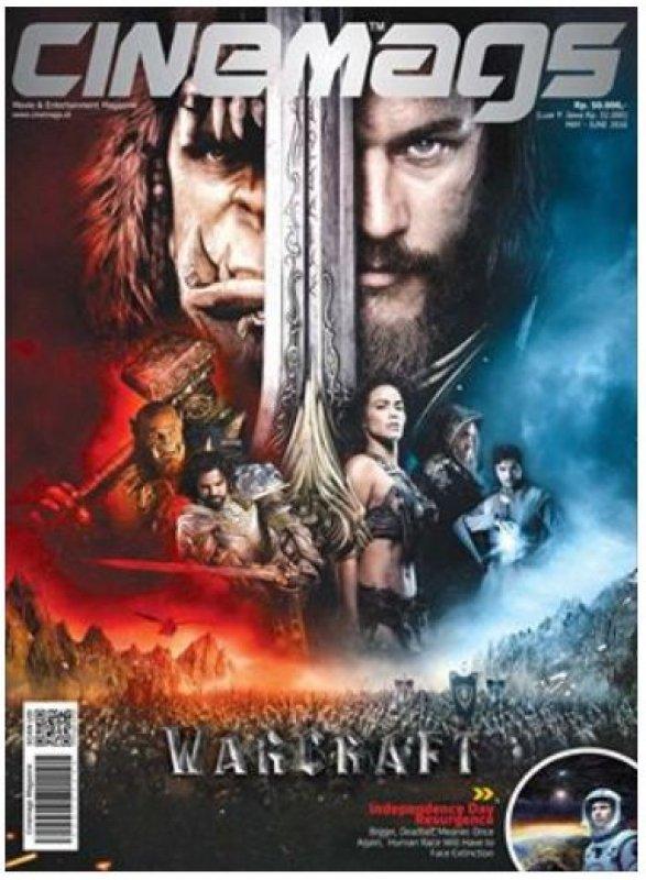 Cover Buku Majalah Cinemags Cover Warcraft | Edisi 202 - 2016