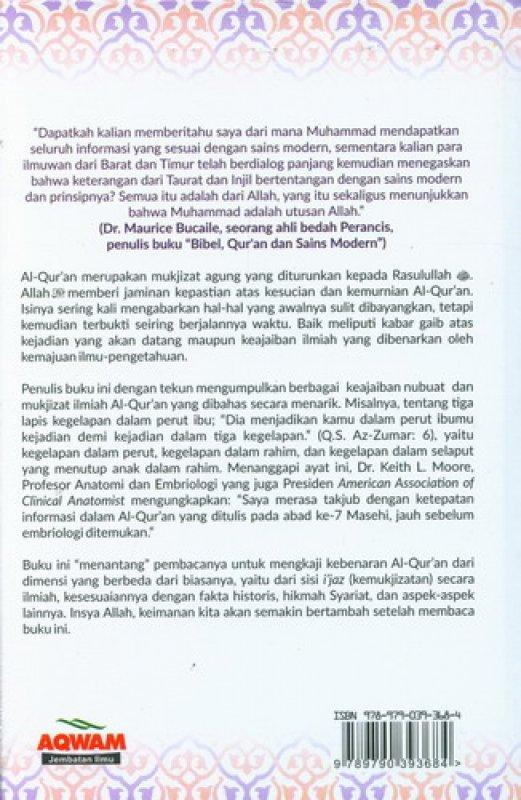 Cover Belakang Buku Mukjizat Al-Quran yang Tak Terbantahkan [Full Color]