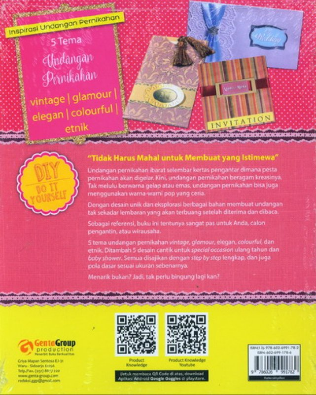 Cover Belakang Buku 30 Handmade Wedding Invitation - Inspirasi Undangan Pernikahan