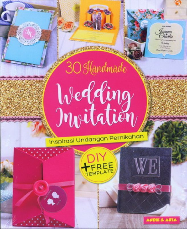 Cover Buku 30 Handmade Wedding Invitation - Inspirasi Undangan Pernikahan