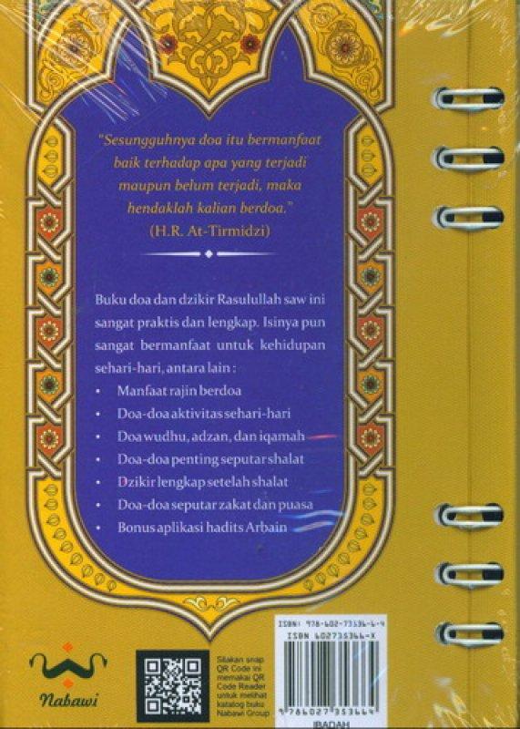 Cover Belakang Buku Keajaiban Doa dan Dzikir Rasulullah Sehari-Hari