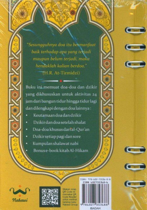 Cover Belakang Buku Panduan Doa dan Dzikir Rasululah 24 Jam