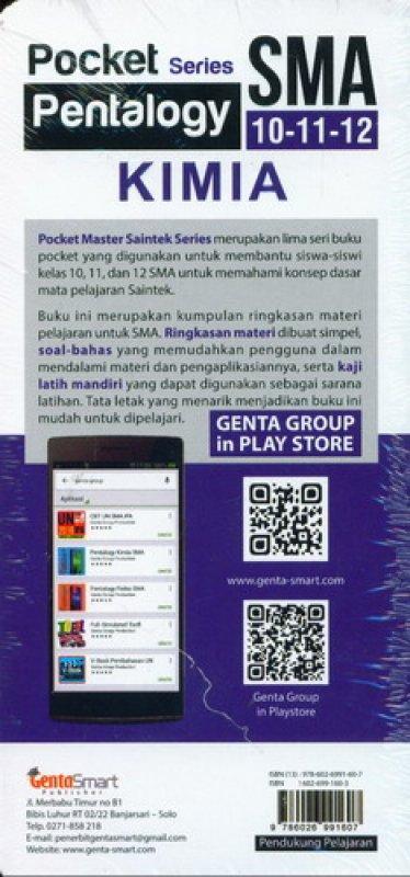 Cover Belakang Buku Pocket Series Pentalogy KIMIA SMA 10-11-12