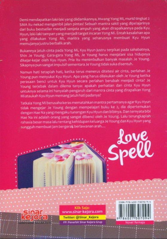 Cover Belakang Buku Love Spell Mantra Cinta Pembuka Tabir Rahasia