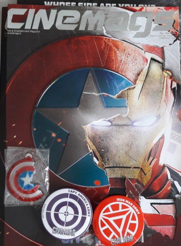 Cover Buku Majalah Cinemags Special Edition Cover Captain America - Civil War | Edisi 201 - Juni 2016