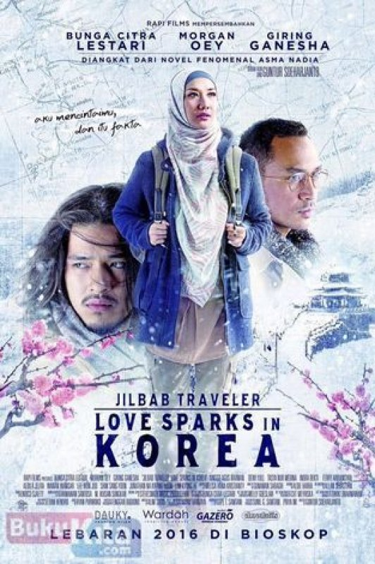 Cover Buku Jilbab Traveler: Love Sparks In Korea (Cover Film)