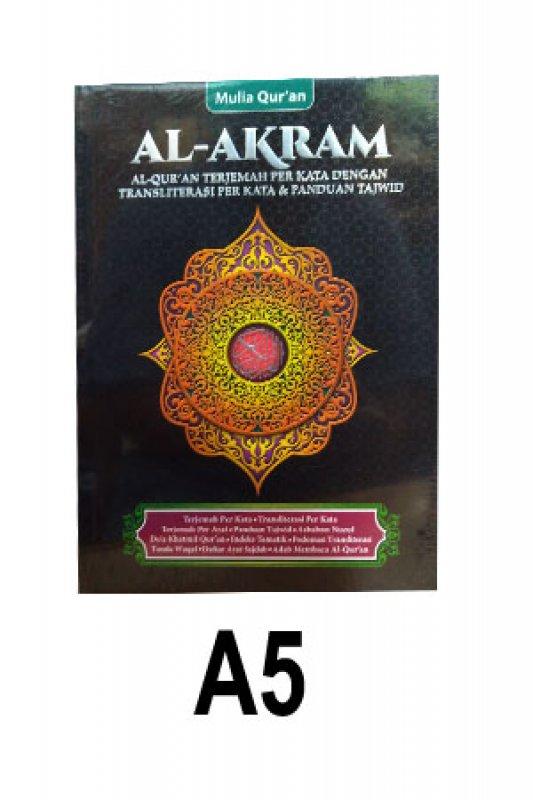Cover Buku Al-Akram A5 (Cover Hitam)