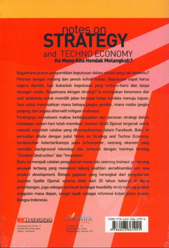 Cover Notes On Strategy and Techno Economy