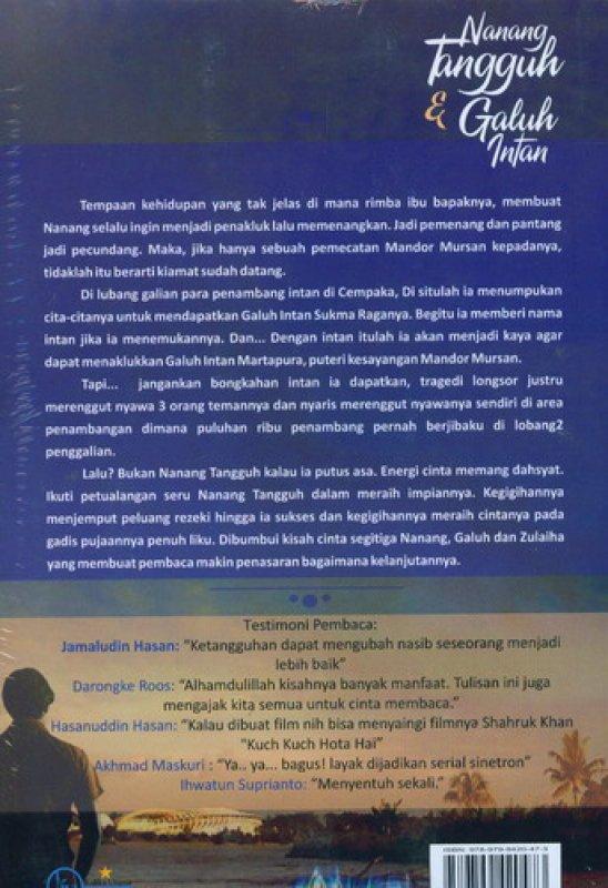 Cover Belakang Buku Nanang Tangguh dan Galuh Intan