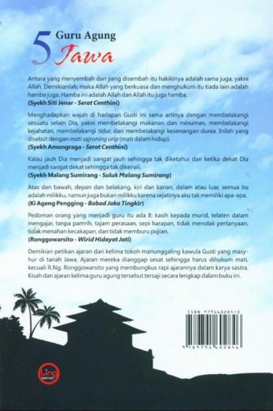Cover Belakang Buku 5 Guru Agung Jawa (Kisah dan Ajaran Lima Sufi Agung Jawa)
