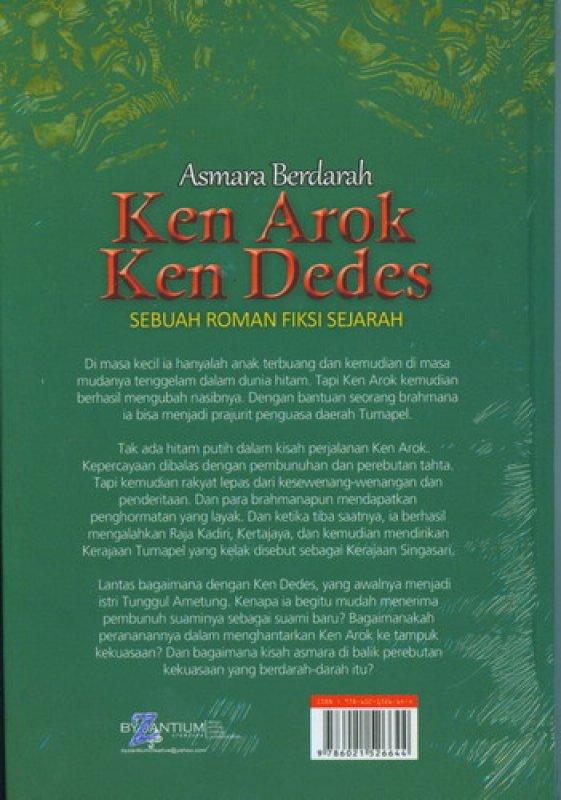 Cover Belakang Buku Asmara Berdarah Ken Arok Kend Dedes [HC]